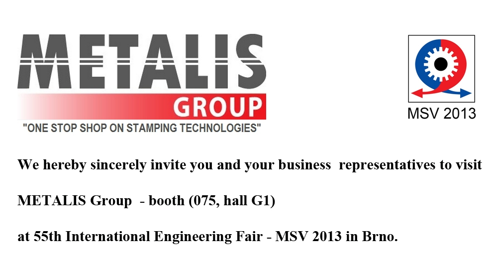 Pozvánky na Mezinárodní strojírenský veletrh MSV Brno 2013
